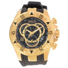 Description The Excursion Reserve collection by Invicta is stylish, smooth, and versatile. Its comfortable black polyurethane strap, calming black dial, wonderful color scheme, precise chronograph com
