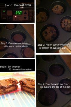 Reese's peanutbutter cup/brownie/cookie cupcakes! Absolutely delicious!