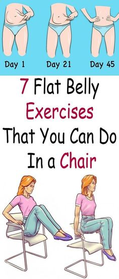 Belly Fat Workout - Belly Fat Workout - 7 Flat Belly Exercises That You Can Do In a Chair Do This One Unusual Trick Before Work To Melt Away 15 Pounds of Belly Fat Do This One Unusual Trick Before Work To Melt Away Pounds of Belly Fat Belly Fat Burner, Burn Belly Fat, Chair Exercises, Belly Exercises, Abdominal Exercises, Abdominal Fat, Sit Down Exercises, Abdominal Workout, Weight Exercises