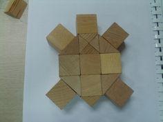 Begeleide of zelfstandige activiteit - Bouwkaart voor kleuters schildpad Block Center Preschool, Block Area, Pattern Blocks, Legos, Art Lessons, Safari, Shapes, Wood, Crafts