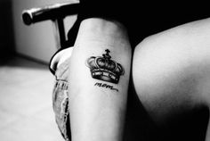 queen of the castle, mom tattoo, memorial tattoo ideas, in memory of mom, Mother Tattoo