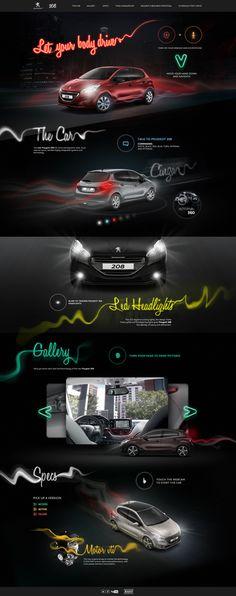 Hotsite Peugeot 208 on Behance