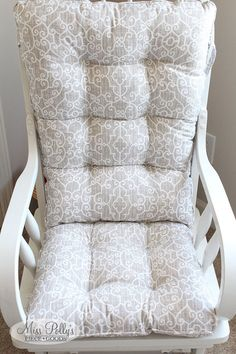 Custom Chair Cushions/ Glider Cushions/ Rocking Chair Cushions/ Glider  Replacment Cushions  SQUARED