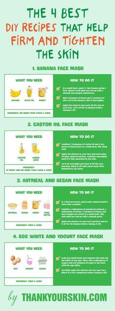 The 4 Best DIY Recipes That Help Firm And Tighten The Skin #TighteningSkin #ThankYourSkin