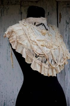 Collar Gothic collar steampunk collar gothic neck ruffle