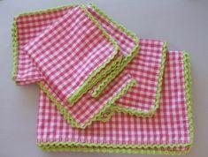Mantel y servilletas de tela con puntilla a ganchillo hecho a mano tutorial hazlo tu mismo diy accesorios complementos lolahn handmade