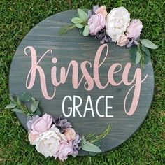Cute Baby Girl Names, Unique Baby Names, Names Baby, Boy Names, Wood Name Sign, Wood Signs, Rustic Signs, Nursery Signs, Nursery Decor