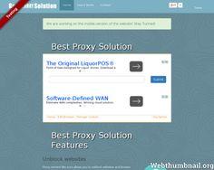 webthumbnail bestproxysolution.com