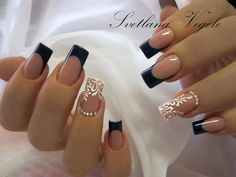 New Bridal Nails Gelish Ideas Cute Acrylic Nail Designs, Cute Acrylic Nails, Nail Swag, Love Nails, Pretty Nails, Square Nail Designs, Gelish Nails, Neutral Nails, Elegant Nails