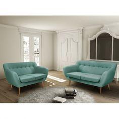 Canapé design bleu 3 places Tudor ATYLIA ATYLIA
