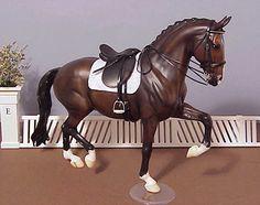 Breyer Salinero in Dressage saddle - model horse tack