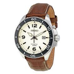 Seiko Kinetic Champagne Dial Men's Watch SKA749 - Kinetic - Seiko - Watches - Jomashop