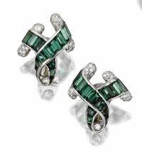 Green Tourmaline and Diamond Earrings, Verdura