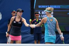 Doubles kicks off   August 31, 2016 - Kiki Bertens and Johanna Larsson in action against Misaki Doi and Varvara Lepchenko during the 2016 US Open at the USTA Billie Jean King National Tennis Center in Flushing, NY.