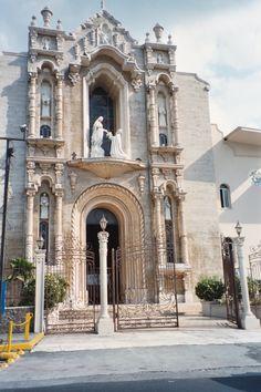 from 2006 trip to Panama:   Front of Santuario Nacional Church in Panama City