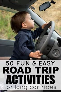 """Looking for road trip ideas for kids that don't involve electronic devices, play doh, stickers, and singing, """"99 Bottles of Beer on the Wall"""" for 10 hours straight while you travel this summer? Then this list of 50 fantastic travel activities for kids is for you!"""