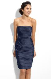 ML Monique Lhuillier Bridesmaids Strapless Ruched Cationic Chiffon Dress (Nordstrom Exclusive)