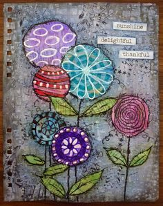 Julie's Papercrafts: Art Journal Page Step by Step for Off The Rails Sc...