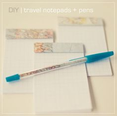 simple summer project: DIY notepads and pens