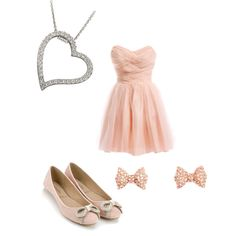 A fashion look from February 2013 featuring ballerina flats, heart pendant and rhinestone earrings. Browse and shop related looks.