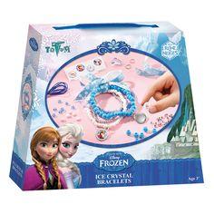 Maak je eigen Disney Frozen ijskristal armbandjes met deze complete set. Inhoud: grote ronde kralen, gekleurde glaskralen, zilveren plastic kralen, plastic ijspegel bedel, elastisch nylon draad, Frozen lint, metalen ringetjes, metalen bedels, stickervel en instructies. Afmeting:verpakking 18 x 15 x 3,5 cm - Disney Frozen IJskristal Armbandjes Maken