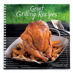 56 recipes including burgers and smoky ribs to vibrant veggies and much more. Includes grilling basics and grill master's tips for perfect results.