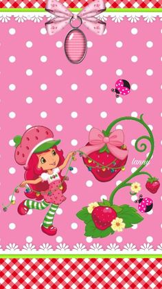 Christmas Strawberry Shortcake Pictures, Strawberry Shortcake Characters, Decoupage, Pretty Backgrounds, Kanzashi Flowers, Baby Party, Cute Wallpapers, Baby Quilts, Princess Peach