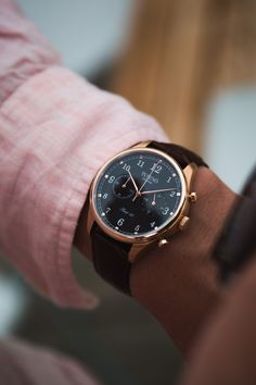 """:  """" The beautiful Tusenö First 42, this piece really sets a new standard in affordable luxury watches. FIRST 42 - ROSÉ GOLD / BLACK  Shop Here  """""""