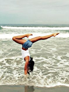 handstands in places you love to be