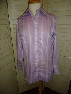 Men's Vintage Lavender Dress Shirt by RabbitsRun on Etsy