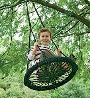 Like to include a swing like this or a tyre version.