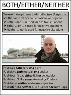 AskPaulEnglish: BOTH, EITHER NEITHER: