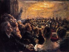 Concert in the Opera House 1921 by Max Liebermann, (German 1847-1935)