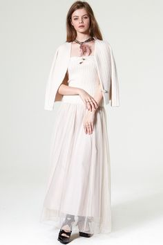 Vilena Cardigan Tulle Dress Set Discover the latest fashion trends online at storets.com