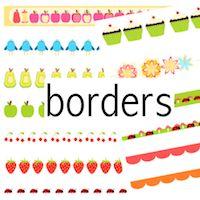 TRANSPARENT borders | MeinLilaPark – DIY printables and downloads