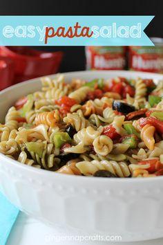 Easy Pasta Salad {summer recipes}
