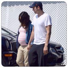 Mila Kunis and Ashton Kutcher in LA August 23,2014