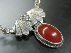 Lovely Sterling Silver Carnelian Vintage Necklace from Heather Tenaya of Gypsy Road Studio on etsy.com