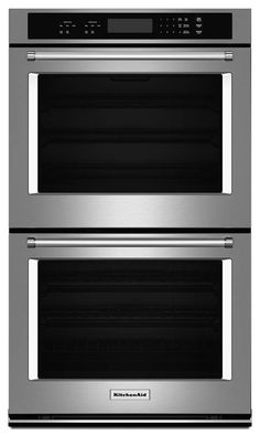 View the KitchenAid KODT107E 27 Inch Wide Electric 8.6 Cu. Ft. Double Wall Oven with Even-Heat Thermal Bake/Broil Upper and Lower Oven at Build.com.