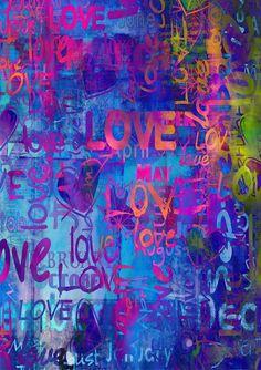 Photo Backdrop, Photography Backdrops, Vinyl Photography Backdrops, Alternative Backdrops Colorful love graffiti wall Valentine's Day Backdrop Graffiti Art, Love Graffiti, Picture Backdrops, Vinyl Backdrops, Graffiti Photography, Photography Backdrops, Word Art, Wallpapers En Hd, Pinturas Disney