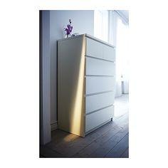 MALM Commode à 6 tiroirs - blanc - IKEA - 150$