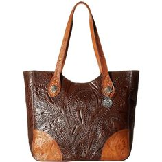 6d3faab54547 American West Annie s Secret Collection Large Zip Top Tote (Chestnut...  (16.205
