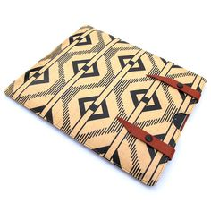 Leather iPad case iPad 3 / iPad 2  1900s Chevron by tovicorrie