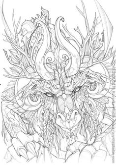 Newest Screen Coloring Sheets dragon Tips It is no top secret that color guides with regard to grown-ups are usually increasingly popular thes Adult Coloring Book Pages, Animal Coloring Pages, Printable Coloring Pages, Colouring Pics, Coloring Sheets, Coloring Books, Colorful Drawings, Colorful Pictures, Weird Pictures