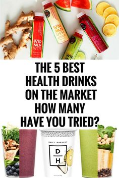 THE 5 BEST HEALTH DRINKS ON THE MARKET — HOW MANY HAVE YOU TRIED? @,.
