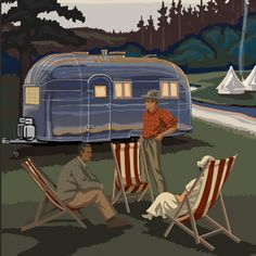 Buy Tree-Free Greetings Premium Refrigerator Magnet, x Inches, Airstream Camping Themed Paul A. Camper Trailer Tent, Airstream Travel Trailers, Airstream Camping, Vintage Travel Trailers, Glamping, Camping Shelters, Mobile Living, Airstream Interior, Get Outdoors