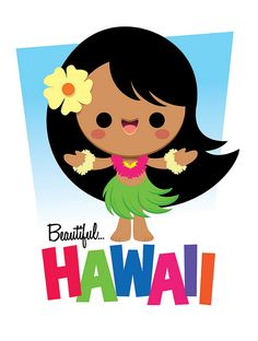 kawaii hula girl | work by jerrod maruyama, via flickr
