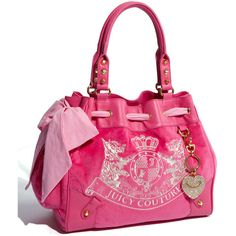 Juicy Couture 'Scotty - Daydreamer' Velour Tote ($198) (Hot Pink)