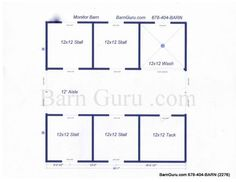 4 Stall Horse Barn Plan Like This With One Side Covered For Hangout Patio