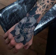 Black And Grey Tattoo Hand  - http://tattootodesign.com/black-and-grey-tattoo-hand/  |  #Tattoo, #Tattooed, #Tattoos